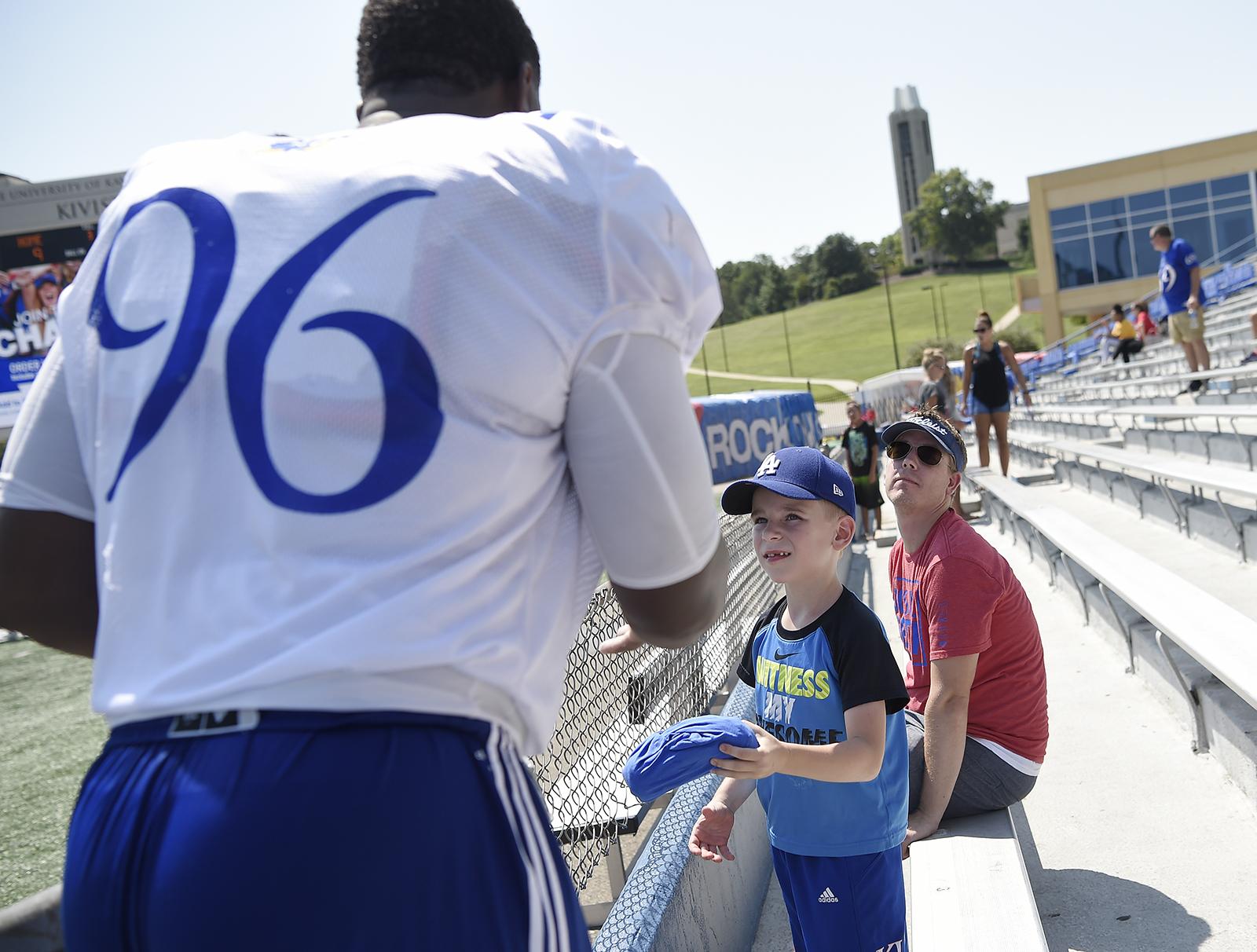 new style b71dd ec585 Football Fan Day – Kansas Jayhawks