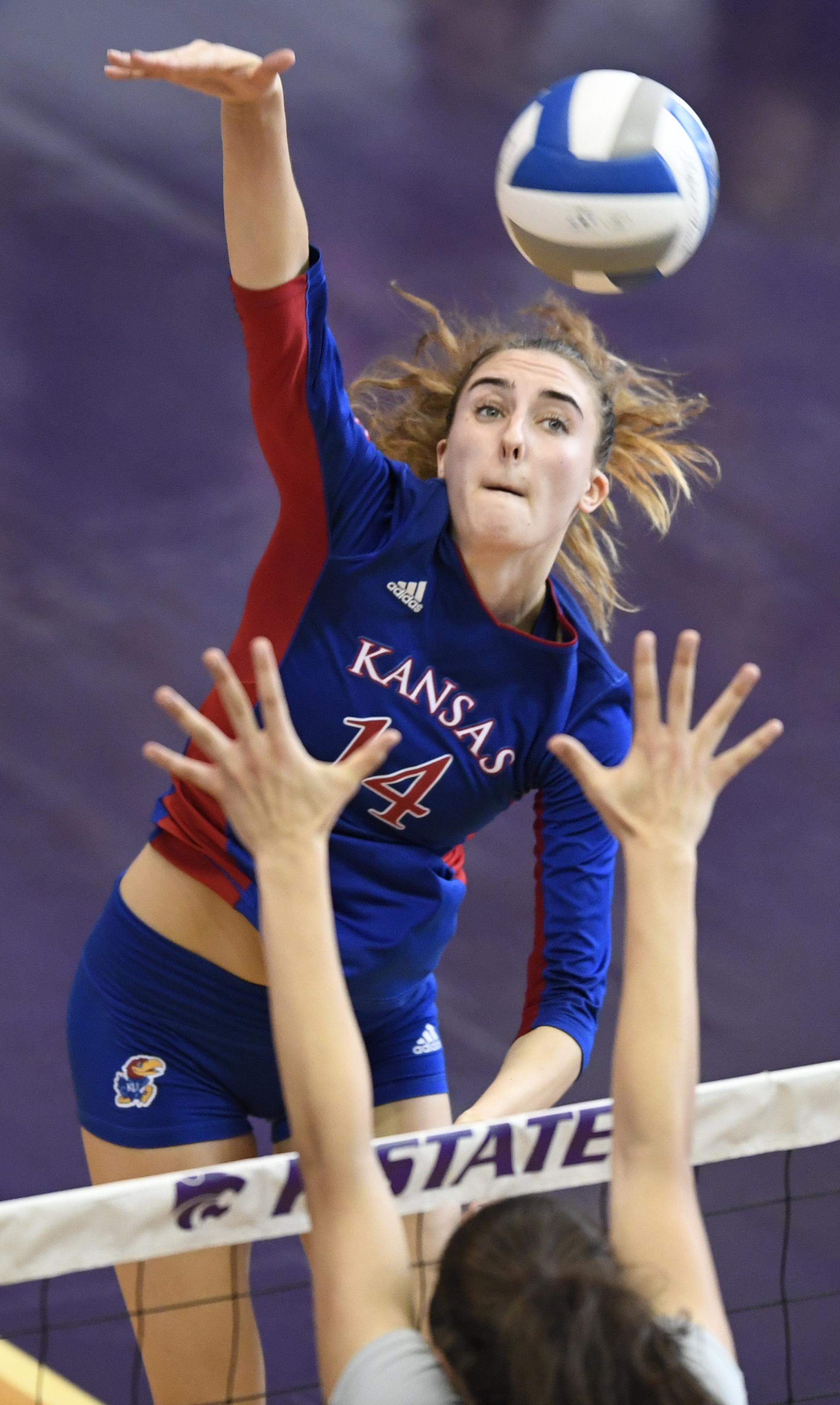 Volleyball At Kansas State Kansas Jayhawks