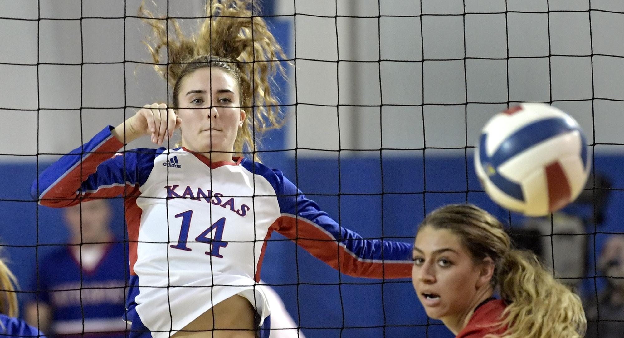 Volleyball Vs Texas Tech Kansas Jayhawks