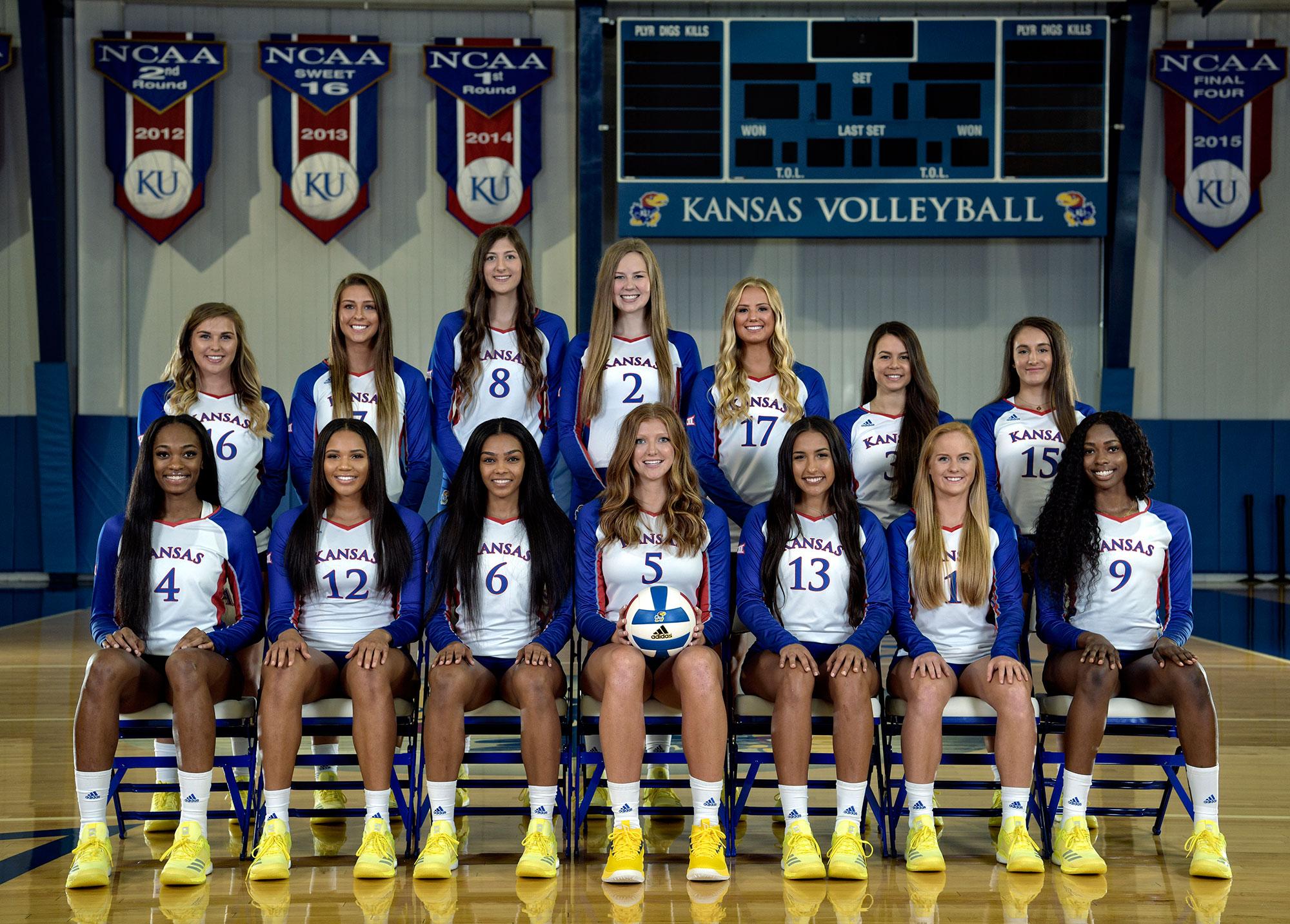 Volleyball 2018 Team Pictures Kansas Jayhawks