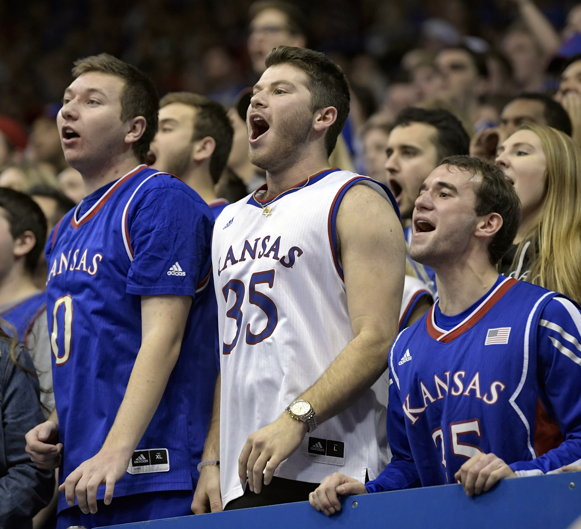 KU's surge in second half delighted the fans.