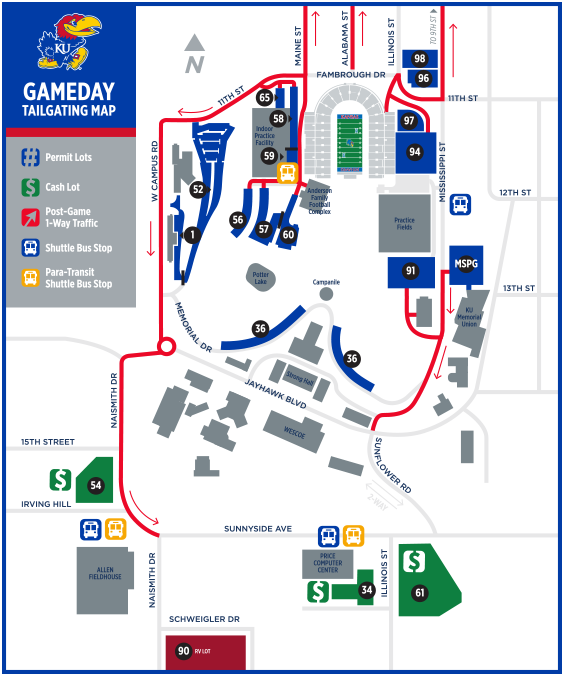 2019 Football Parking Map