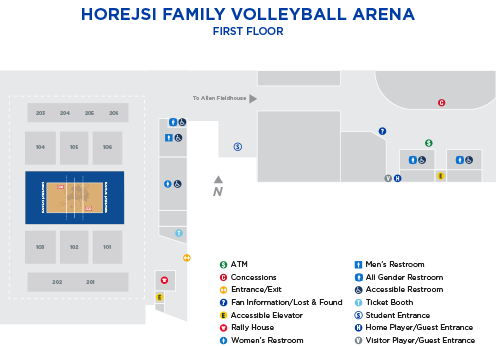 2019 Horejsi Family Volleyball Arena Graphic