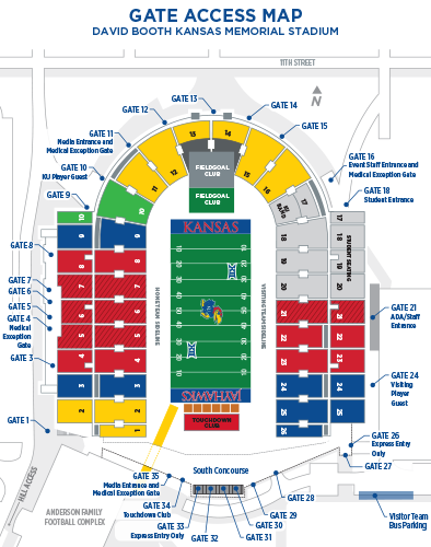 2019 Football Gate Map Graphic