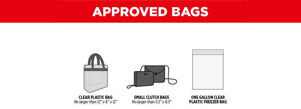 Clear Bag Policy Approved Bags Graphic