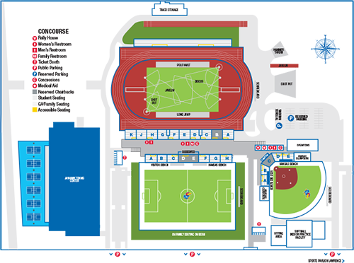 Rock Chalk Park Amenities Map Graphic