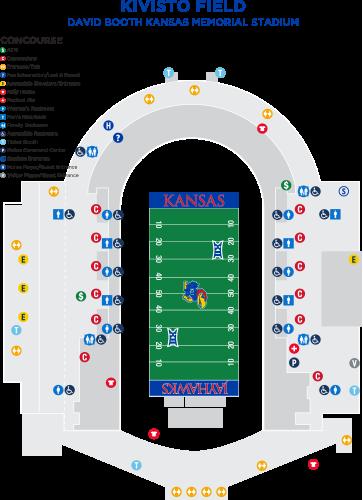 2019 David Booth Kansas Memorial Stadium Ameinity Map