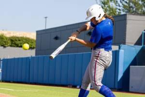 Becki hitting practice