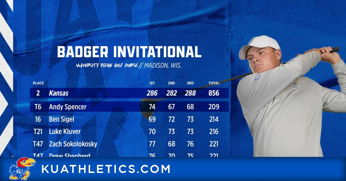 Men's Golf places second in season opener at the Badger