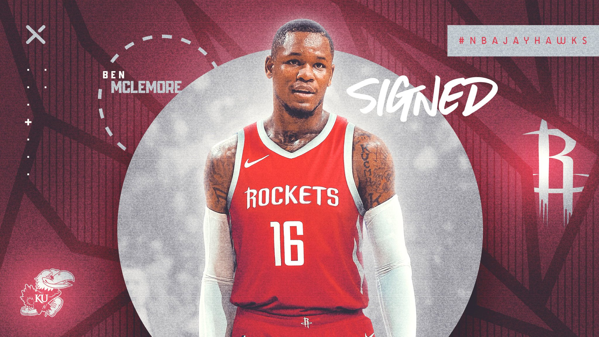 ben mclemore houston rockets sign graphic