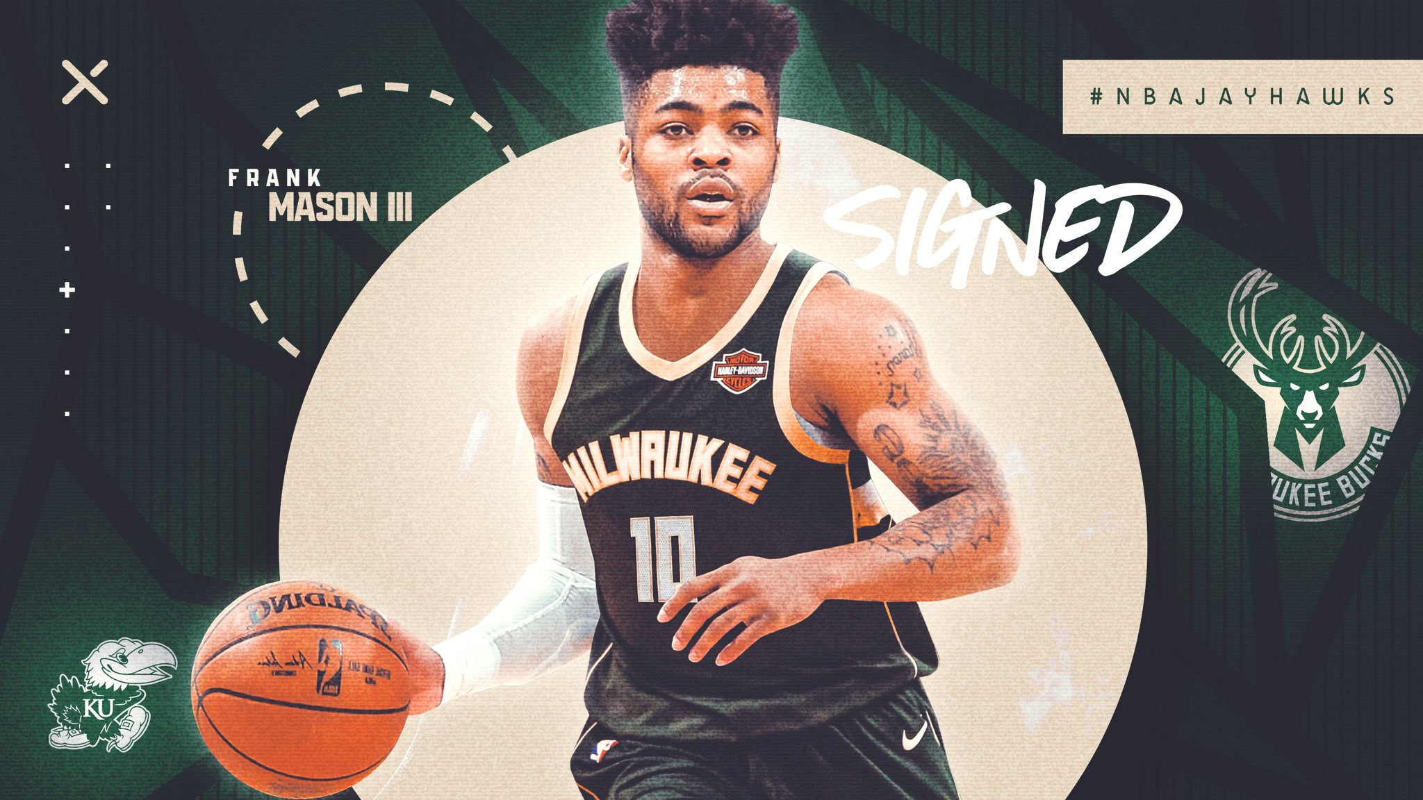 frank mason signs with milwaukee bucks graphic