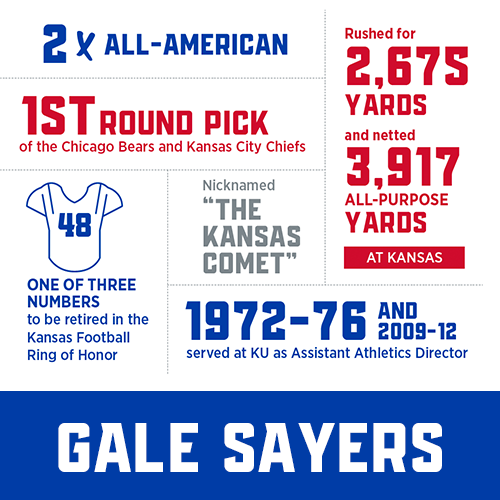 gale sayers statue stats