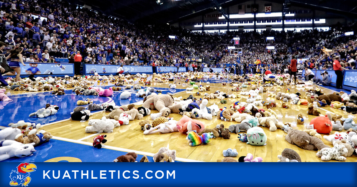 Jayhawks to Hold Teddy Bear Toss to Benefit Toys for Tots