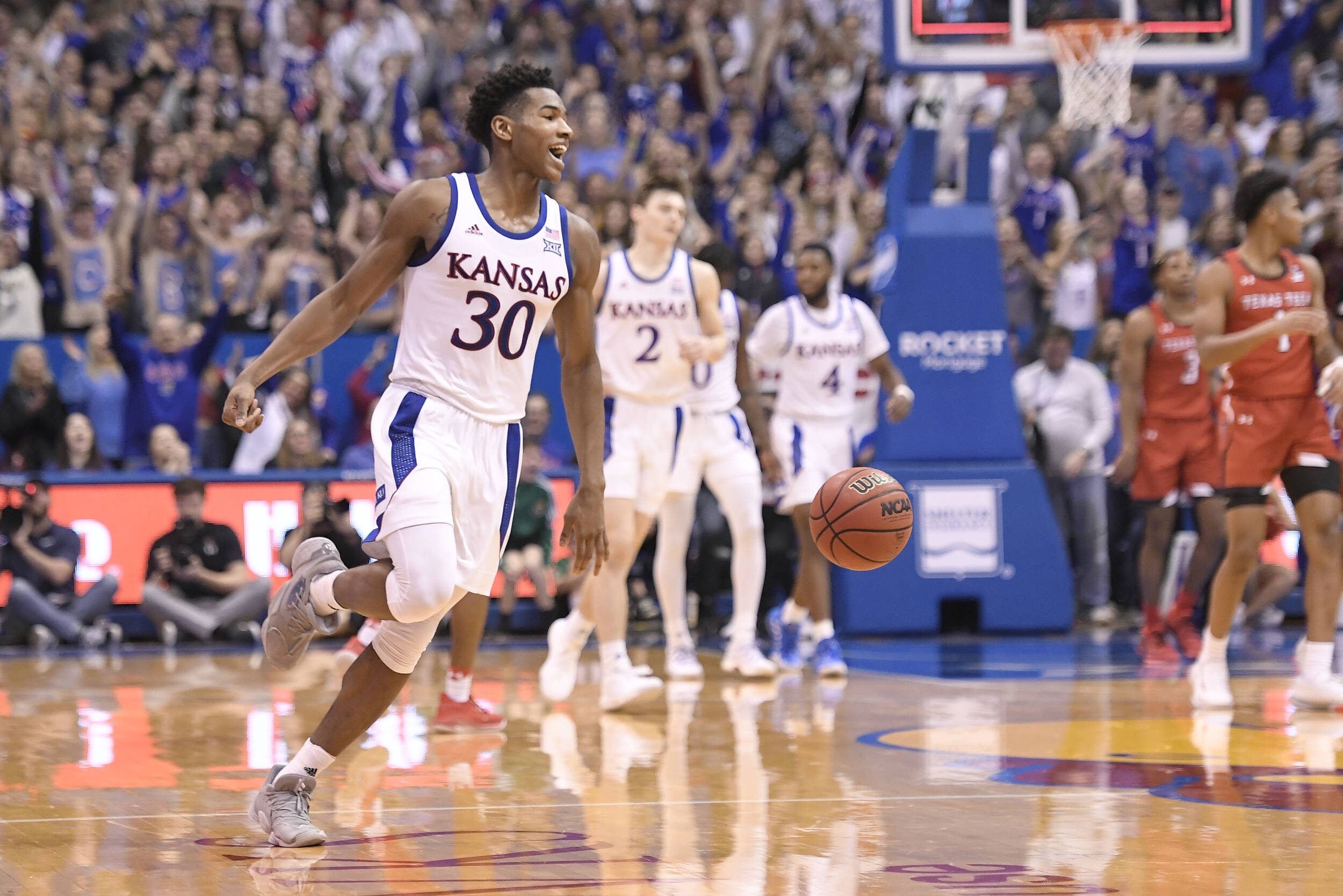 Basketball Vs Texas Tech Kansas Jayhawks